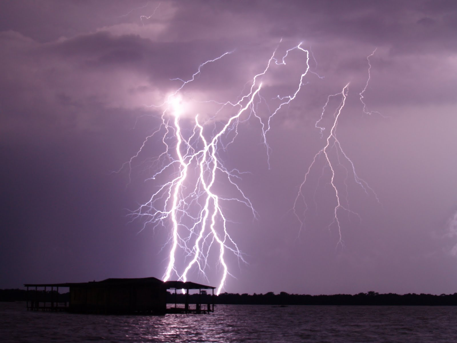 Lightning at Catatumbo River in Venezuela