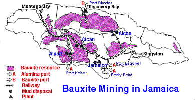 bauxite mining areas