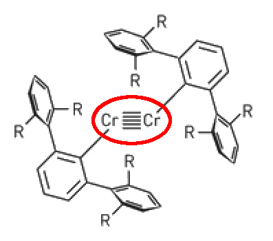 quintuple bonded Cr structure