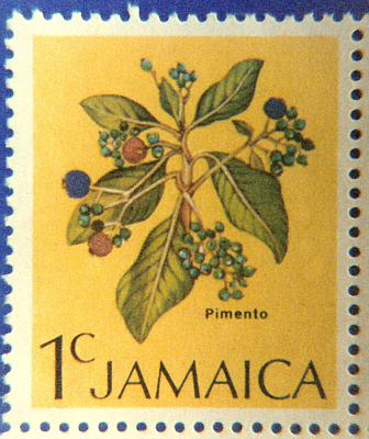 Jamaican stamp with pimento berries